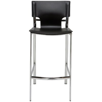 23.75 Bar Stool Upholstery: Black