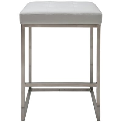 Chi 25.75 inch Bar Stool Upholstery: White