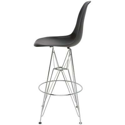 Maxine Bar Stool Upholstery: Black