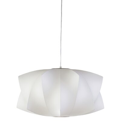 Lex 1-Light Drum Pendant Size: 11.5 H x 21.25 W x 21.25 D
