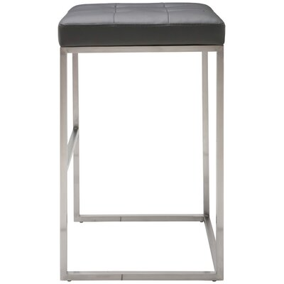 Chi 29.75 Bar Stool Upholstery: Grey