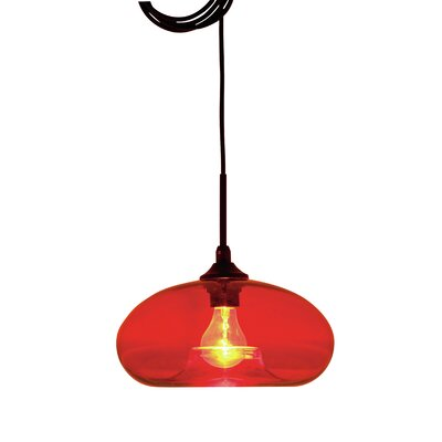 William 1-Light Mini Pendant Shade Color: Red