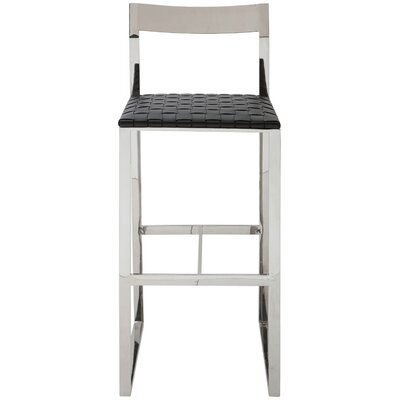 Camille Counter Stool Upholstery: Black
