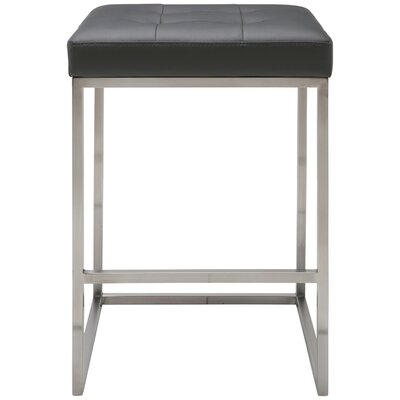 Chi 25.75 inch Bar Stool Upholstery: Gray