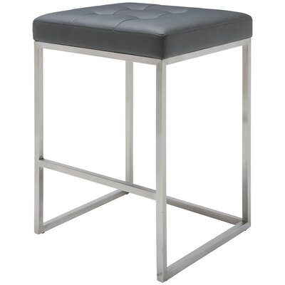 Chi 25.75 Bar Stool Upholstery: Gray