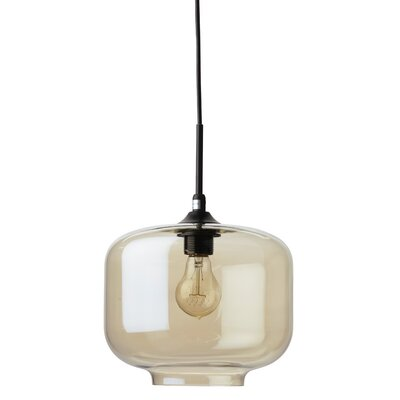 Charles 1-Light Mini Pendant Shade Color: Champagne