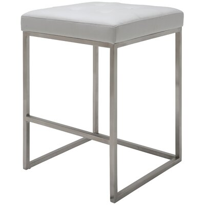 Chi 25.75 Bar Stool Upholstery: White