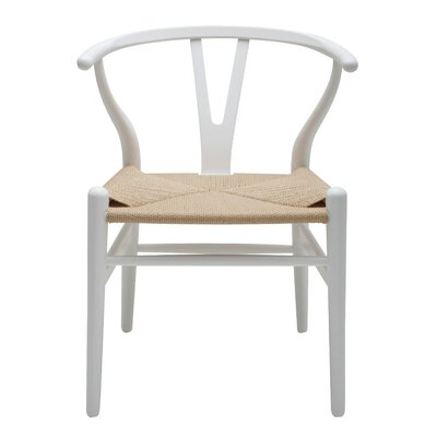 Alban Side Chair Color: White