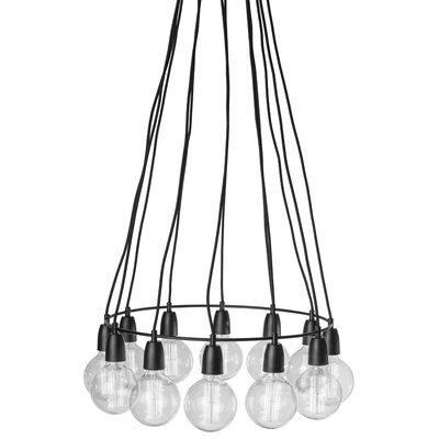 Tess 12-Light Cluster Pendant Finish: White