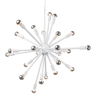 Sergei 24-Light Bowl Pendant Finish: White