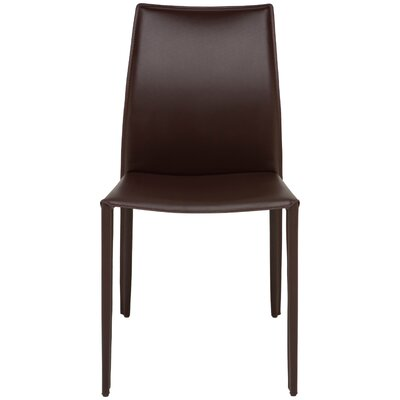 Sienna Genuine Leather Upholstered Dining Chair Upholstery: Chocolate