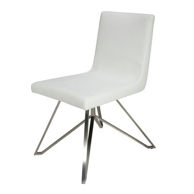 Tanya Side Chair Upholstery: White
