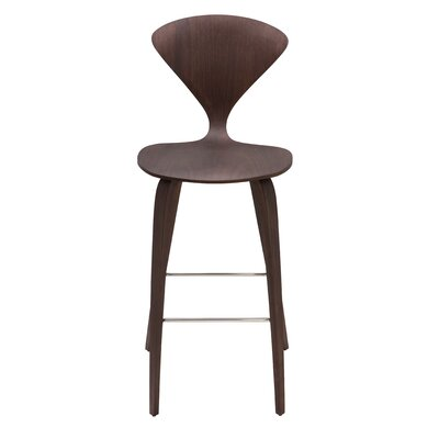 Satine 25.5 inch Bar Stool Finish: Dark Walnut