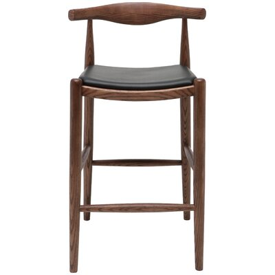 Maja Bar Stool Finish: Walnut �Black
