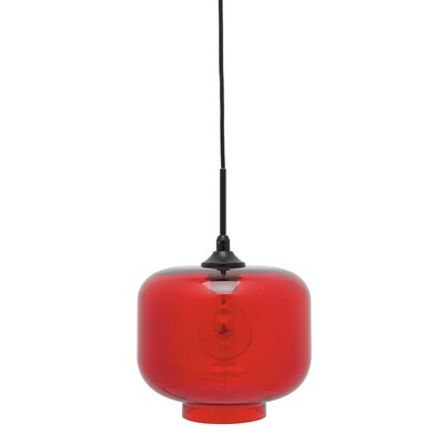 Charles 1-Light Mini Pendant Shade Color: Red