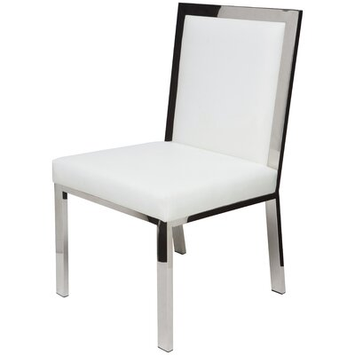 Rennes Parsons Chair Upholstery: White