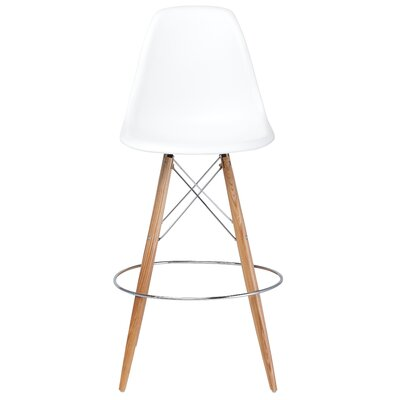 Charlotte 29.25 Bar Stool Upholstery: White