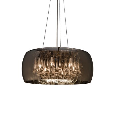Alain 1-Light Drum Pendant Size: 80.75 H x 19.75 W x 19.75 D