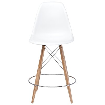 Charlotte Bar Stool Upholstery: White