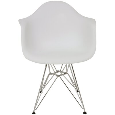 Ray Arm Chair Upholstery: White