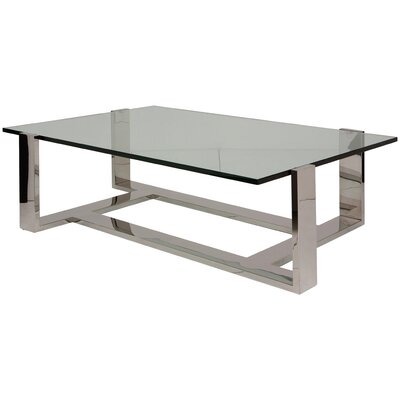 Flynn Coffee Table Size: 16.25 H x 48 W x 24 D