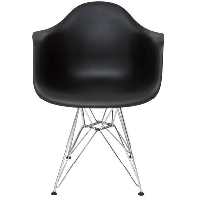 Ray Arm Chair Upholstery: Black