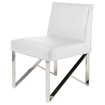 Jacqueline Side Chair Upholstery: White