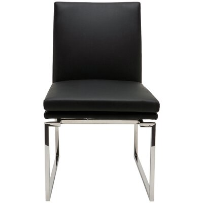 Savine Parsons Chair Upholstery: Black