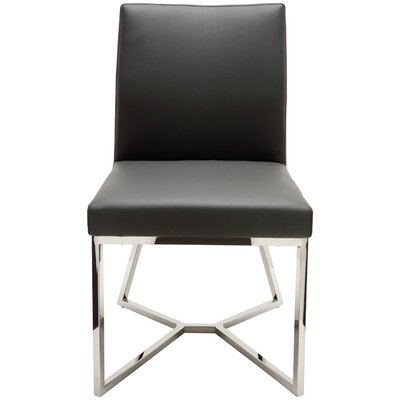 Patrice Parsons Chair Upholstery: Grey