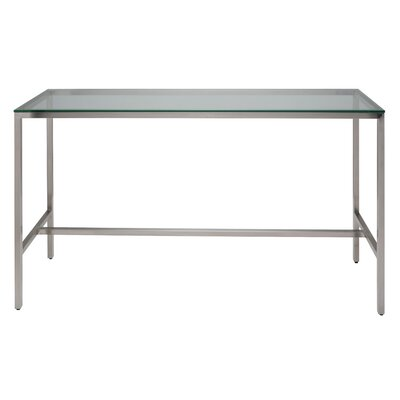 Verona Counter Height Pub Table Color: Silver Glass