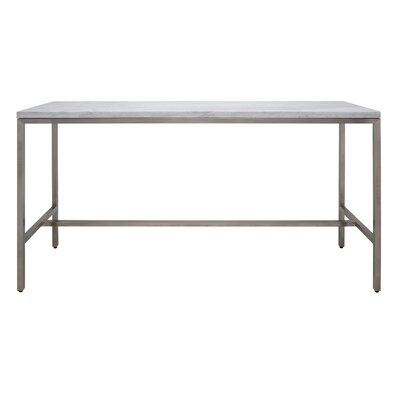 Verona Counter Height Pub Table Color: White Marble