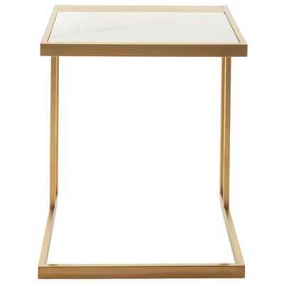 Ethan End Table Color: Gold