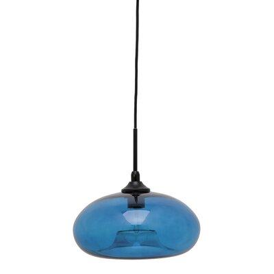 William 1-Light Mini Pendant Shade Color: Blue