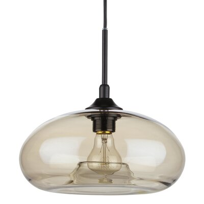 William 1-Light Mini Pendant Shade Color: Champagne