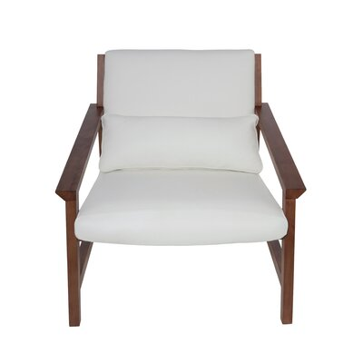 Bethany Arm Chair Color: White