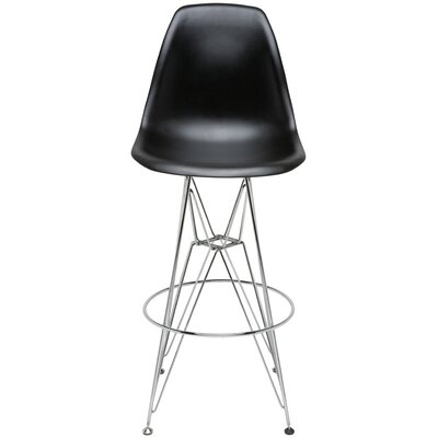 Maxine Bar Stool Upholstery: Black