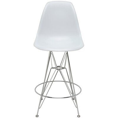 Maxine Bar Stool Upholstery: White