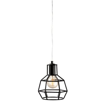 Cage 1-Light Foyer Pendant Finish: Black