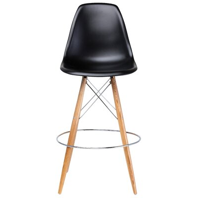 Charlotte 29.25 Bar Stool Upholstery: Black