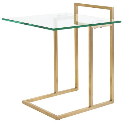 Enna End Table Color: Gold