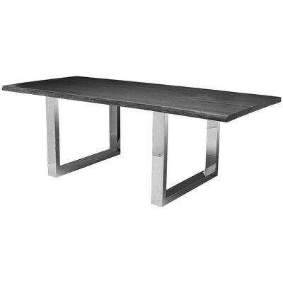 Lyon Dining Table Top Finish: Grey Oxidised
