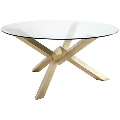 Costa Dining Table Finish: Gold