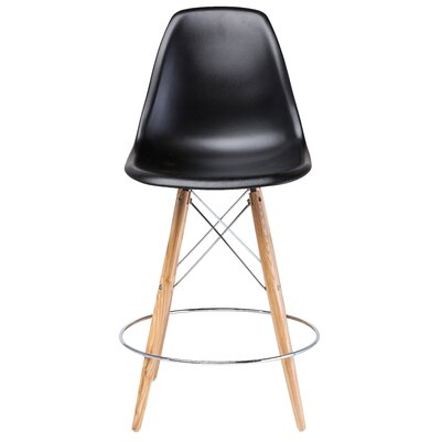 Charlotte Bar Stool Upholstery: Black