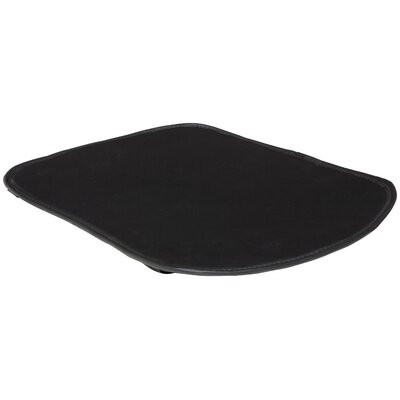 Swerve Outdoor Dining Chair Cushion Fabric: Black