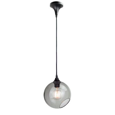 Sphere 1-Light Globe Pendant Shade Color: Smoke Grey