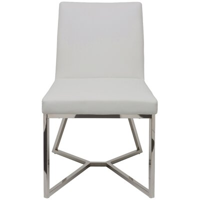 Patrice Side Chair Upholstery: White