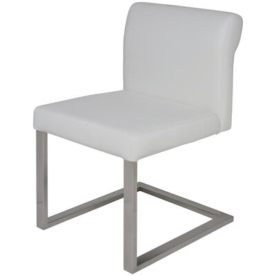 Bruno Genuine Leather Upholstered Dining Chair Upholstery: White