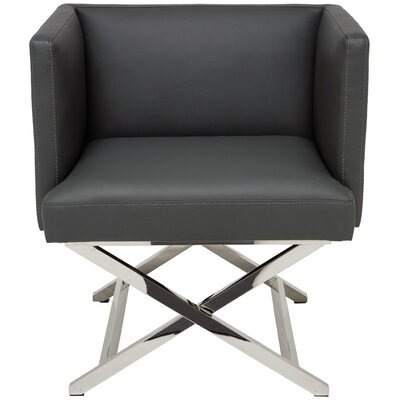 Trinity Arm Chair Upholstery: Grey