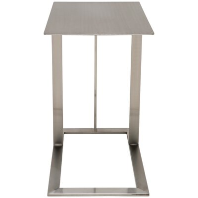 Celine End Table Color: Brushed Stainless Steel