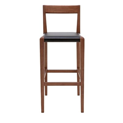 Ameri Bar Stool Upholstery: Black